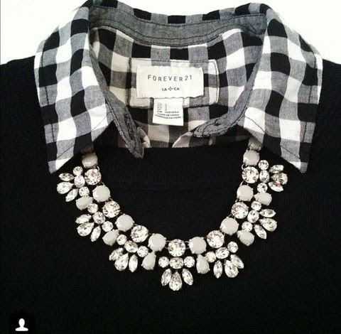 This is so cute! I would even do this with just the plaid shirt and a black tank top underneath!