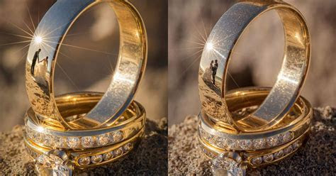 These Wedding Ring Photos Have Reflections of the Newlyweds