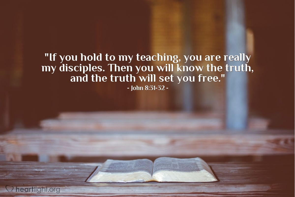 Illustration of John 8:31-32