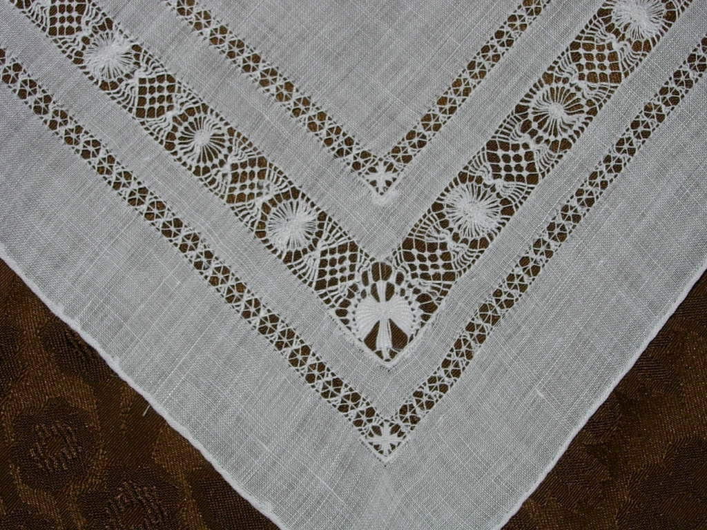 Vintage White Bridal Hanky - Hankie Handkerchief - HankyLady