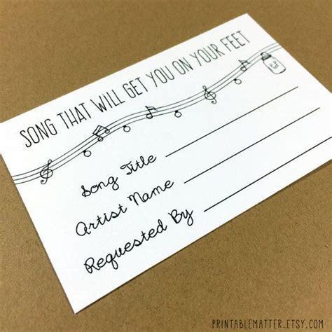 Wedding Song Request Card   Design #1   Rustic Mason Jar