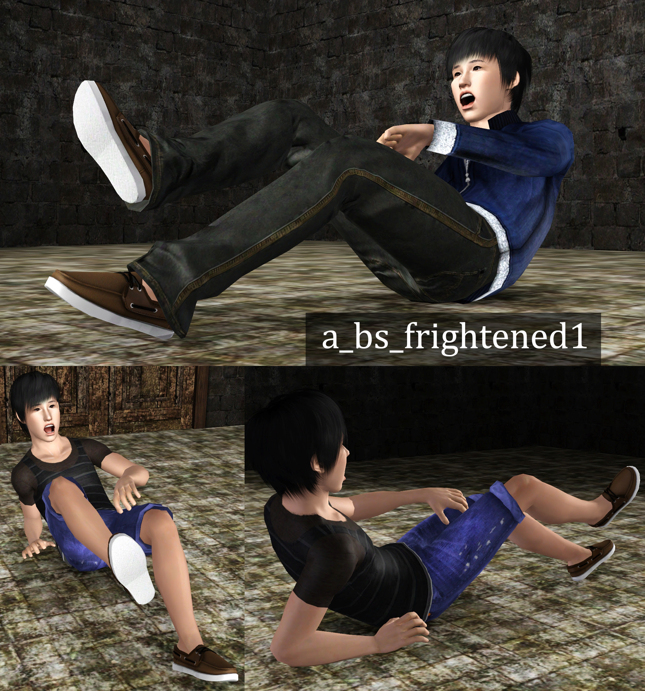 Frightened Pose Pack