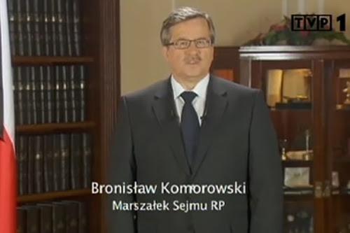 Bronisław Komorowski - Marszałek Sejmu RP