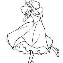 Coloriages Princesse à Colorier En Ligne Frhellokidscom