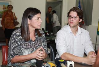 Roseana e o prefeito Léo Coutinho