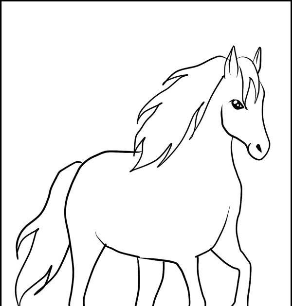pferd malen vorlage  malvorlagen