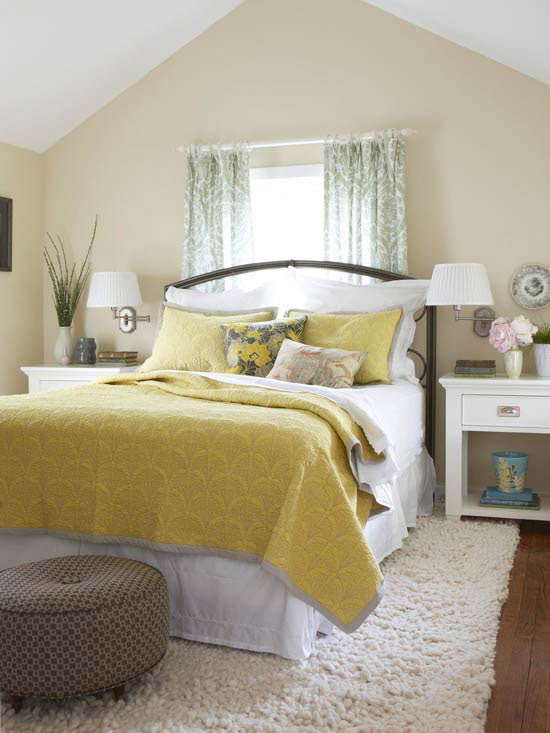Yellow And White Room Design