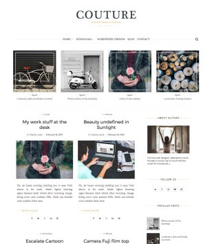Couture Blogger Templates