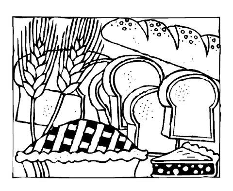 Dibujo De Rodajas De Pan Para Colorear Dibujos Para Colorear
