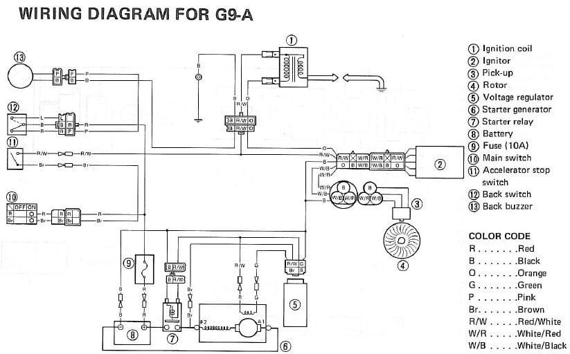 Yamaha G16 Engine Diagram