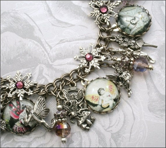 Welcome to Fairyland, Vintage Inspired Charm Bracelet