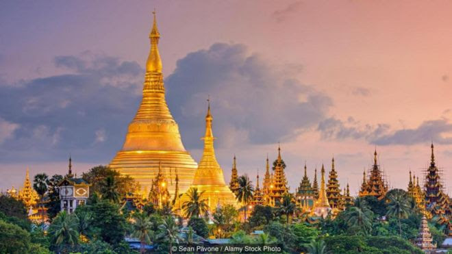 Yangon's Shwedagon Pagoda features statues of Burmese wizard saints