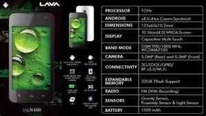 lava android iris n 400