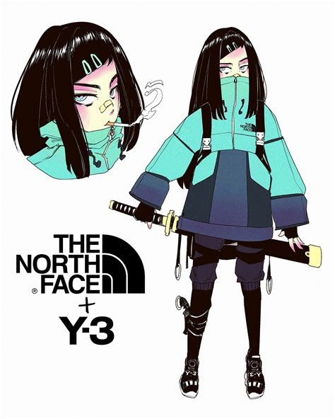 north face      character art anime art
