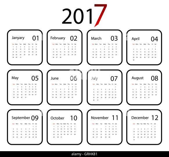 November Vector Flat Daily Calendar Stock Photos & November Vector ...