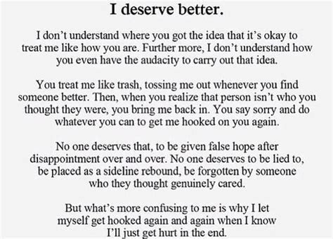 Quotes About Deserving Better In A Relationship