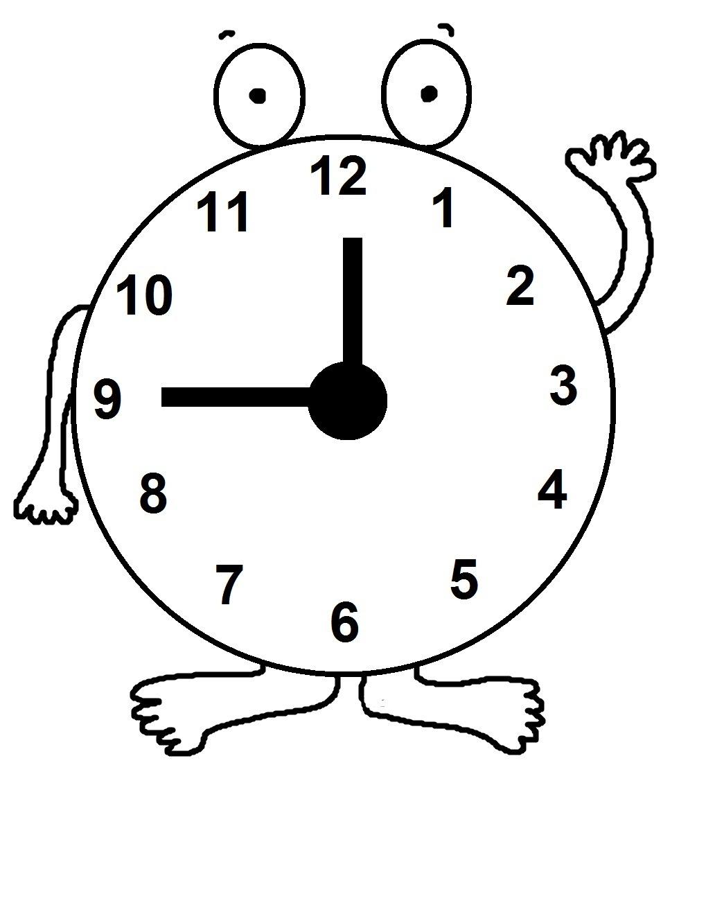 Free Clock Coloring Pagesjpg Sınıf öğretmenleri Için ücretsiz