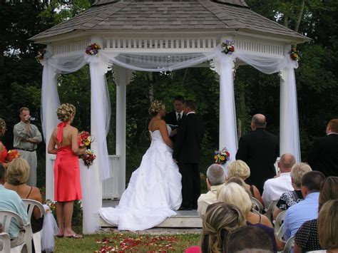 Wedding Gazebo Decorations  a little white tulle and