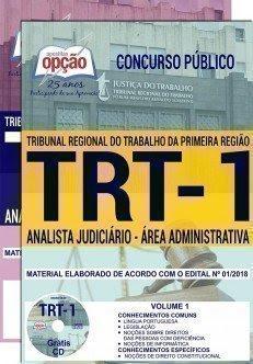 Apostila Concurso TRT 1ª Região 2018 | ANALISTA JUDICIÁRIO - ÁREA ADMINISTRATIVA