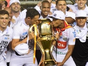 Santos comemora a conquista do Campeonato Paulista 2016