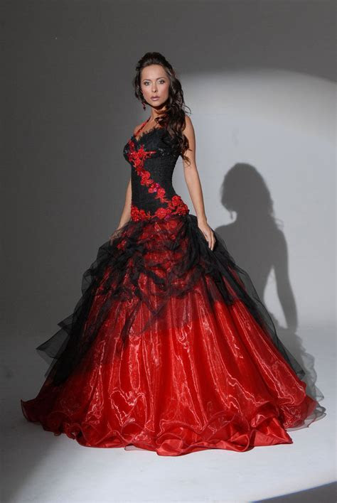 Red Wedding Dress   Dresscab
