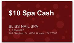 CPS-1021 - salon coupon card