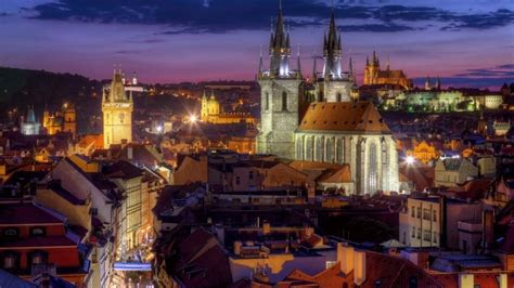 night lights  prague hd wallpaper wallpaperfx