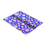 Blue Flower Power Doormat