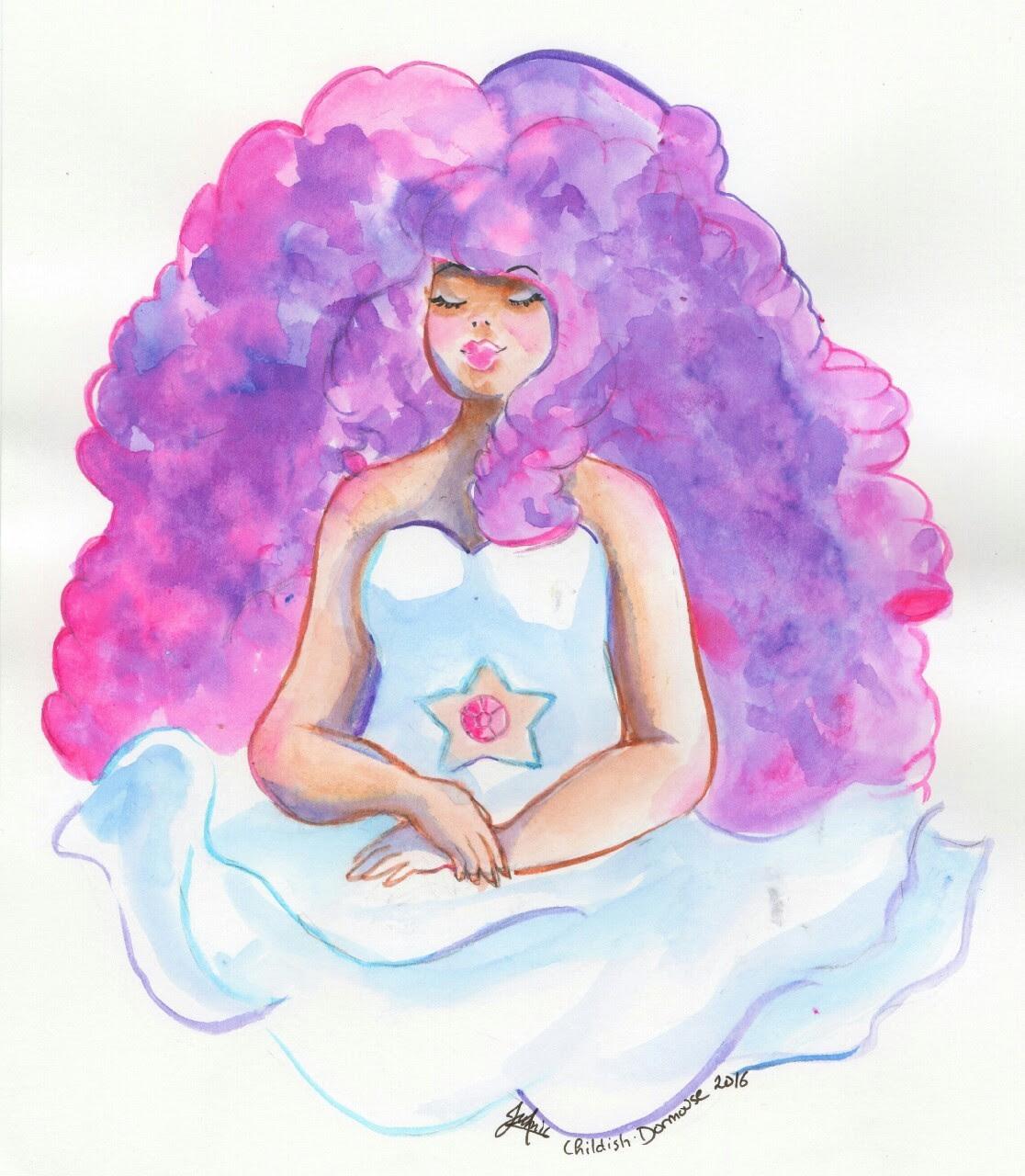 Rose Quartz ❤ Steven Universe Watercolor ink
