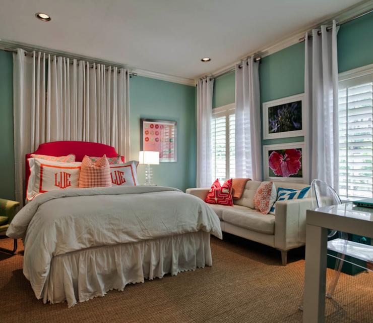 Hot Pink Headboard - Contemporary - girl's room - Underwood Interiors