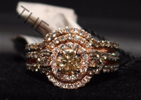 LeVian Bridal Set, Chocolate & White Diamonds 14k Rose