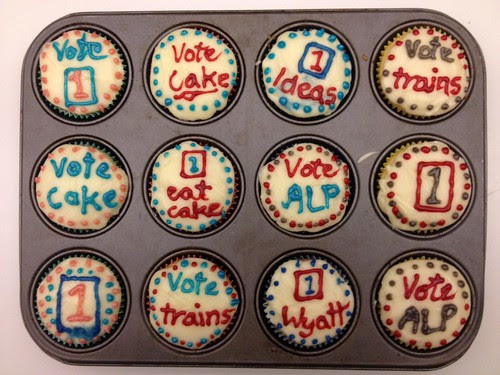 Voting Day WA cupcakes