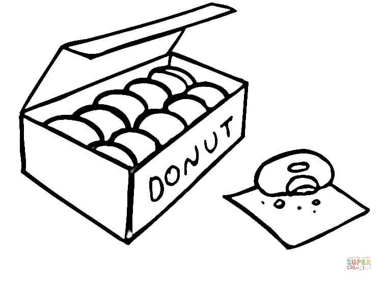 Ausmalbild: Donuts | Ausmalbilder kostenlos zum ausdrucken