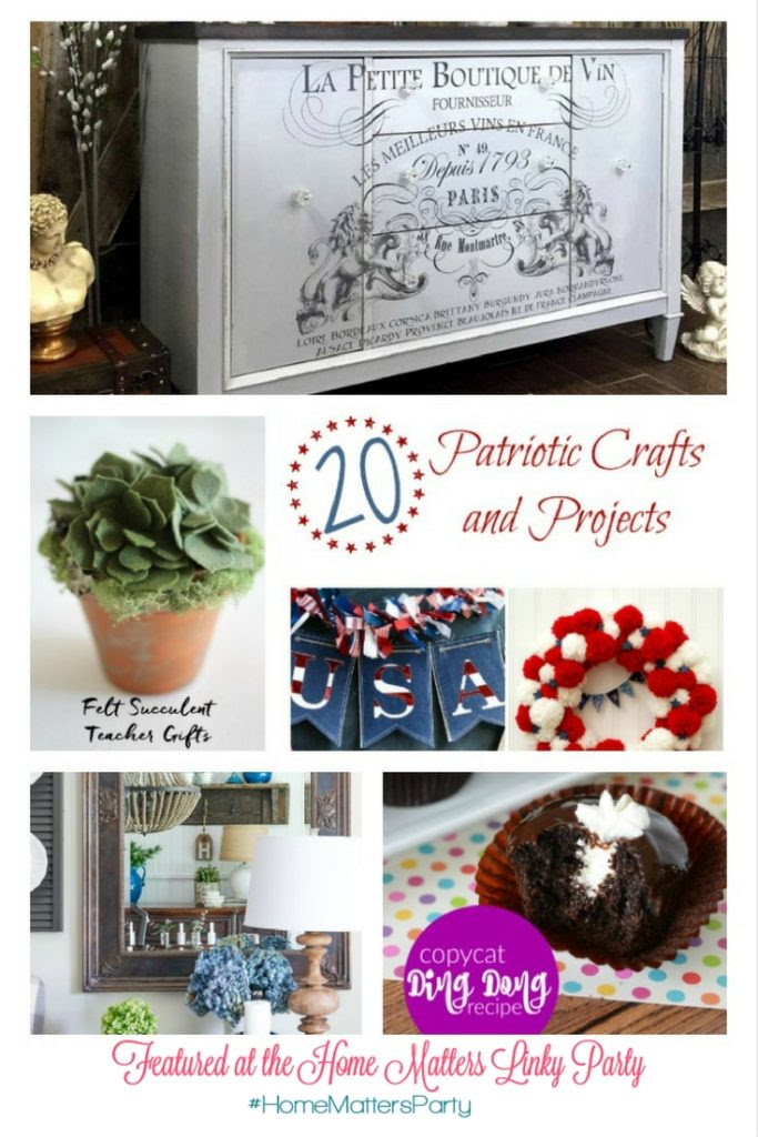 Come join the fun and link your blog posts at the Home Matters Linky Party 136. Find inspiration recipes, decor, crafts, organize -- Door Opens Friday EST.