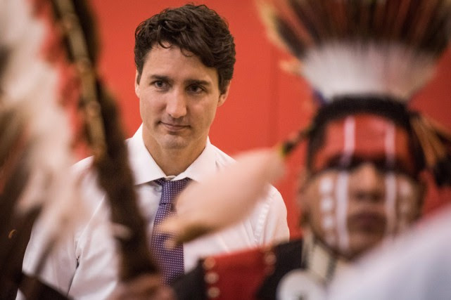 Mercredi, le premier minstre Justin Trudeau a rencontré... (Photo Matt Smith, PC)
