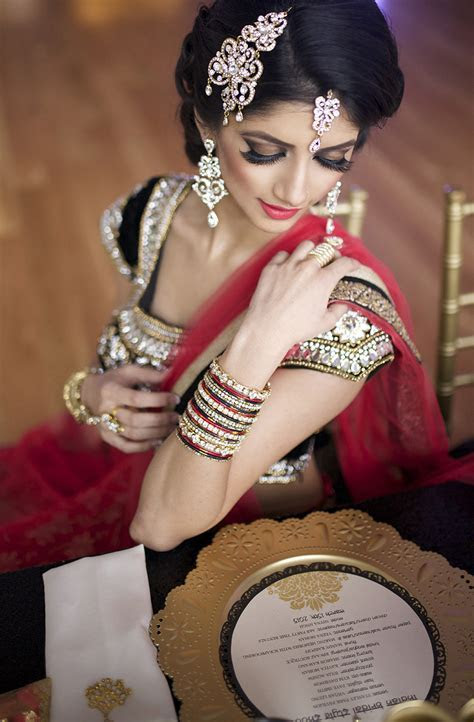 Bollywood Rouge Indian Bridal Style Shoot
