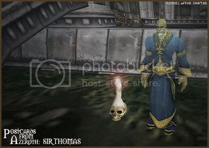 Postcards From Azeroth: Sir Thomas, by Rioriel Whitefeather