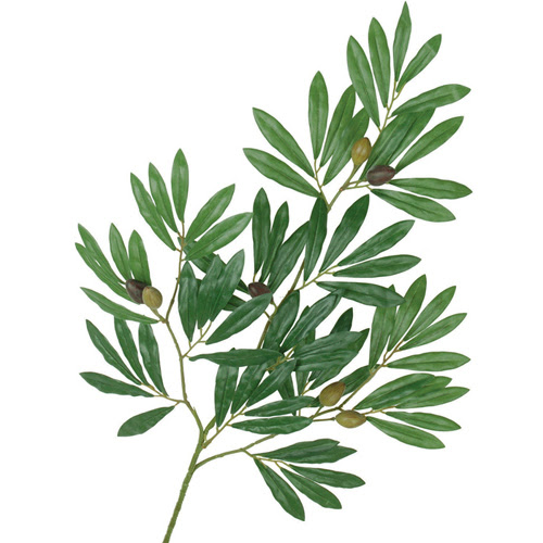 Silk Olive Tree Branch Green 24 X75 Leaves Wfake Olives Clip
