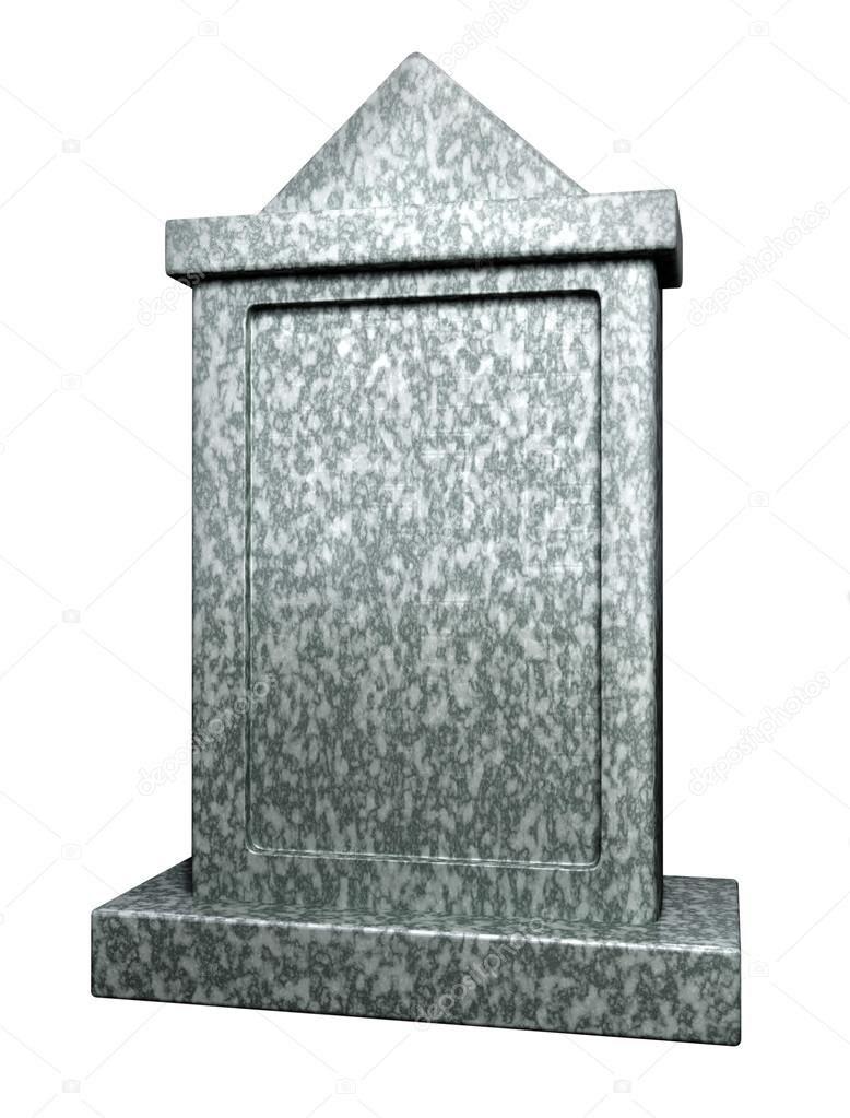 Blank gravestone — Stock Photo © gl0ck #13952379