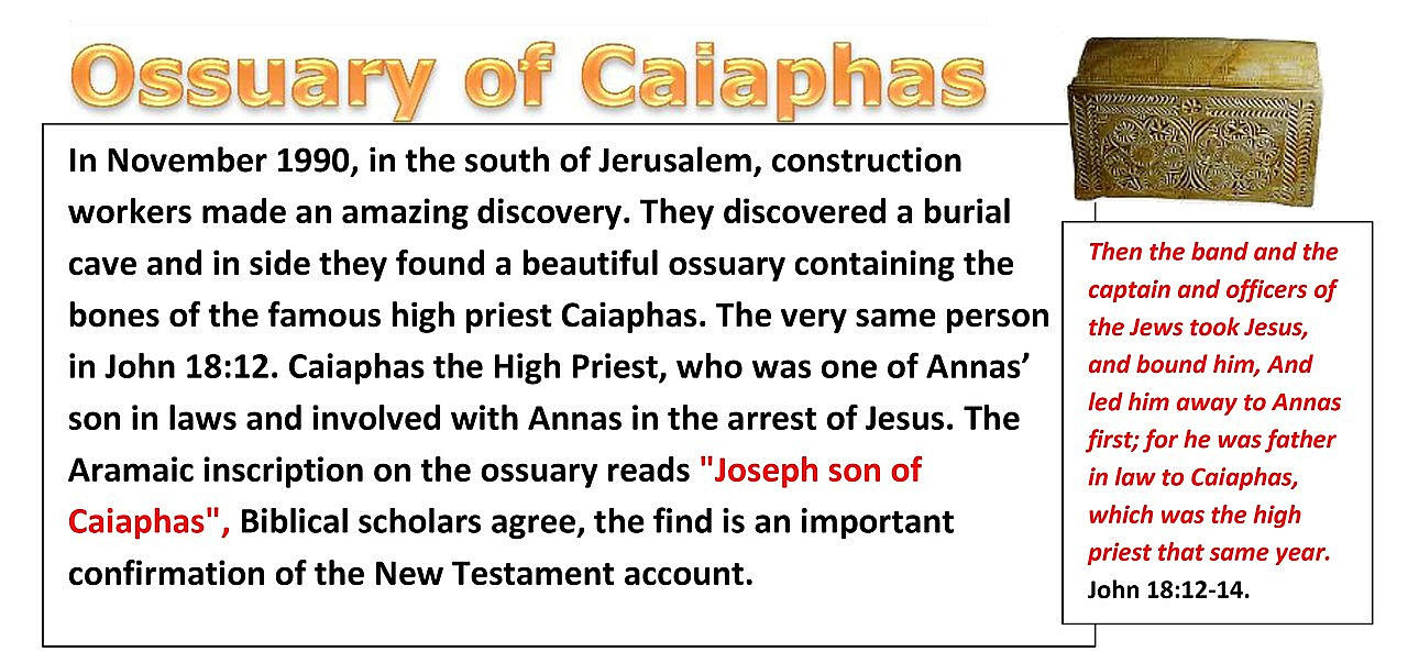 Ossuary of Caiaphas. HERE WE HAVE ABSOLUTELY ROCK SOLID EVIDENCE yet again of a man who was mentioned many times in the new testament who met Jesus face to face.