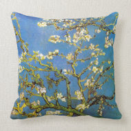 Blossoming Almond Tree by Van Gogh throwpillow