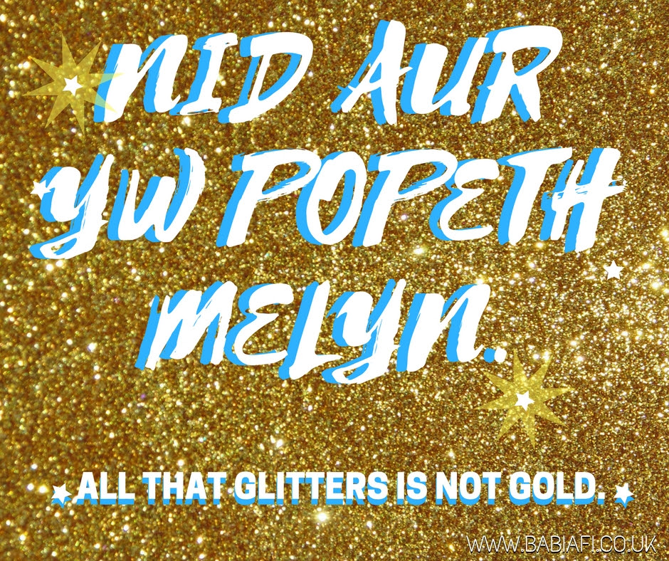 Nid aur yw popeth melyn - all that glitters is not gold.