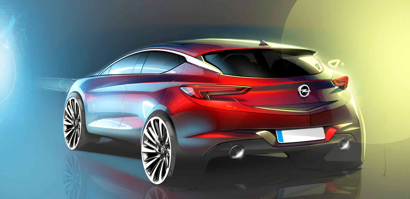 2016 opel astra  design sketch  car body design