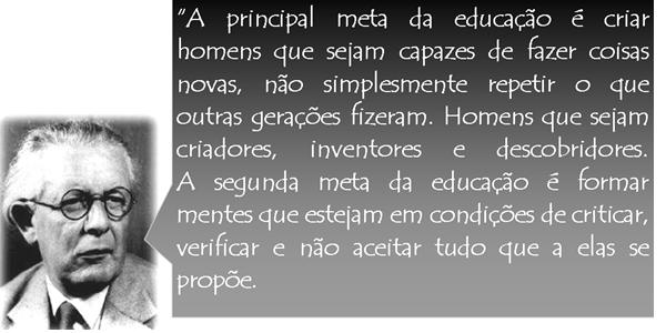 Frases De Jean Piaget Sobre Educação Frases E Mensagens Em