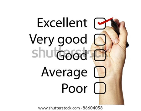 Feedback form with excellent score