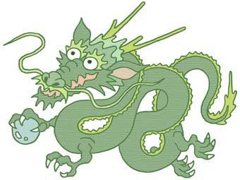 冬無料イラスト素材辰龍竜辰年緑色龍神ドラゴン正月