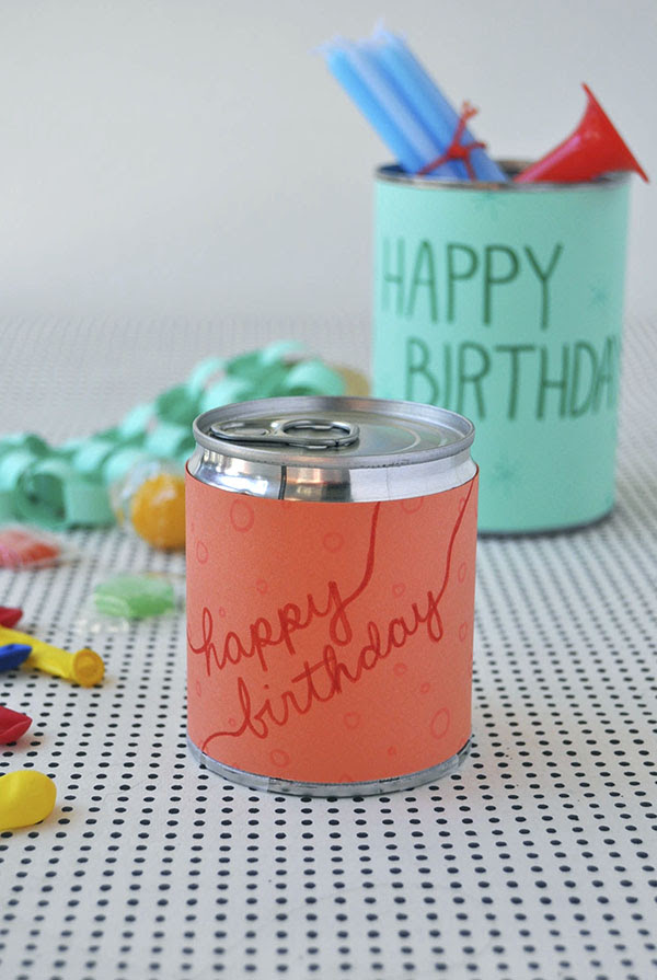 Birthday in a Can | Oh Happy Day!