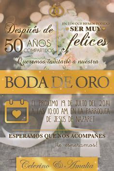 Invitaciones para fiesta de Bodas de Oro   50 Aniversary