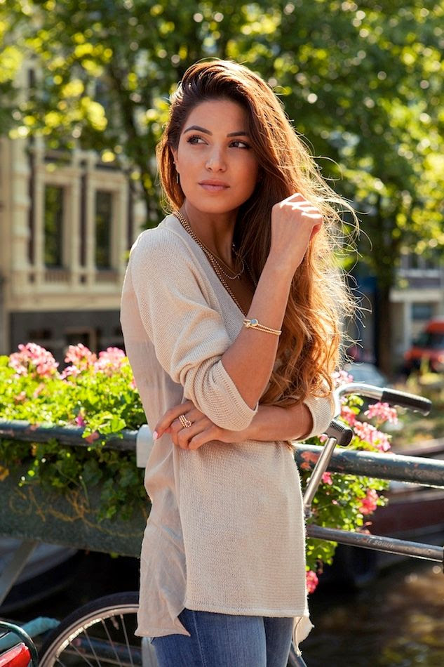 3 Le Fashion Blog Long Hair Inspiration Negin Mirsalehi Brunette Brown Wavy Tan Sweater Jeans Gold Jewelry photo 3-Le-Fashion-Blog-Long-Hair-Inspiration-Negin-Mirsalehi-Brunette-Brown-Wavy-Tan-Sweater-Jeans-Gold-Jewelry.jpg
