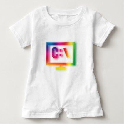 C:\ Nerds and Geeks Rejoice ! Baby Romper